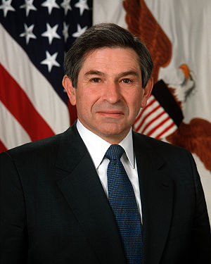 Former Deputy Secretary of Defense Paul Wolfowitz.