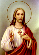 A depiction of Jesus and His Most Sacred Heart