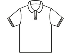 Basic pattern of a polo shirt