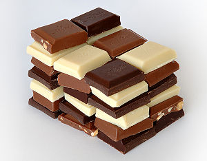 White chocolate is marketed by confectioners a...