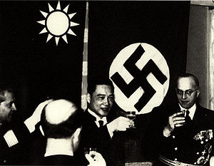 Wang Jingwei receiving Nazi diplomats while he...