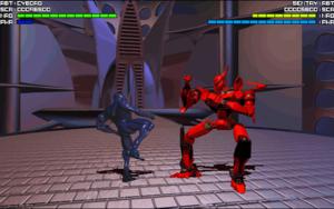 Cyborg versus Sentry.
