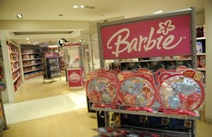 A Barbie store stands empty at a toy store in ...