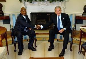 WASHINGTON - OCTOBER 30:  Uganda President Yow...