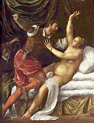 Titian's image of the rape.